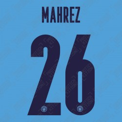 Mahrez 26 (Official Name and Number Printing for Manchester City 2020/21 Home Shirt)