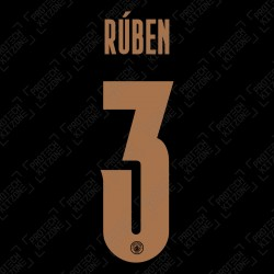 Rúben 3 (Official Name and Number Printing for Manchester City 2020/21 Away Shirt)