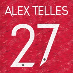Alex Telles 27 (Official Manchester United FC 2020/21 Home / Away Name and Numbering