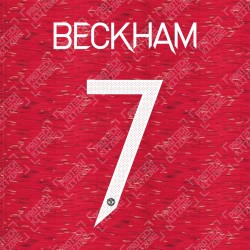 Beckham 7 (Official Manchester United FC 2020/21 Home / Away Name and Numbering