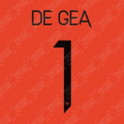 De Gea 1 (Official Manchester United FC 2020/21 Third GK Name and Numbering