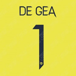 De Gea 1 (Official Manchester United FC 2020/21 Away GK Name and Numbering