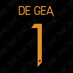 De Gea 1 (Official Manchester United FC 2020/21 Home GK Name and Numbering
