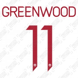 Greenwood 11 (Official Manchester United FC 2020/21 Third Name and Numbering