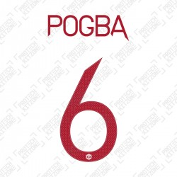 Pogba 6 (Official Manchester United FC 2020/21 Third Name and Numbering