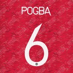 Pogba 6 (Official Manchester United FC 2020/21 Home / Away Name and Numbering