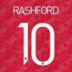 Rashford 10 (Official Manchester United FC 2020/21 Home / Away Name and Numbering