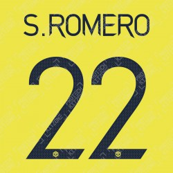 S. Romero 22 (Official Manchester United FC 2020/21 Away GK Name and Numbering