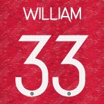 William 33 (Official Manchester United FC 2020/21 Home / Away Name and Numbering