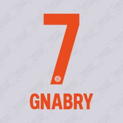 Gnabry 7 (OFFICIAL BAYERN MUNICH 2020/21 Away NAME AND NUMBERING)