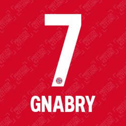 Gnabry 7 (OFFICIAL BAYERN MUNICH 2019/20/21 HOME NAME AND NUMBERING)