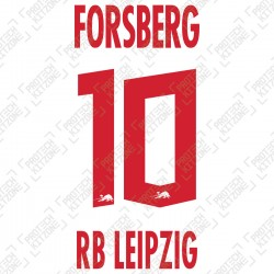 Forsberg 10 (Official RB Leipzig 2020/21 Home Name and Numbering) - UEFA CL Ver.