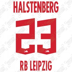 Halstenberg 23 (Official RB Leipzig 2020/21 Home Name and Numbering) - UEFA CL Ver.