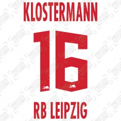 Klostermann 16 (Official RB Leipzig 2020/21 Home Name and Numbering) - UEFA CL Ver.