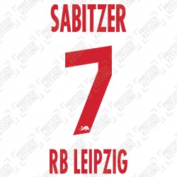 Sabitzer 7 (Official RB Leipzig 2020/21 Home Name and Numbering) - UEFA CL Ver.