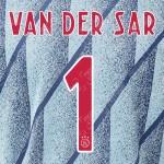 Van Der Sar 1 (Official Ajax FC 2020 Away Shirt Name and Numbering)