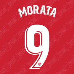 Morata 9 (Official Atletico Madrid 2019/20 Home La Liga Name and Number)