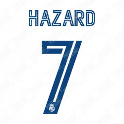 Hazard 7 (Official Real Madrid FC 20/21 Home Cup Name and Numbering)