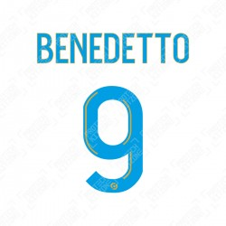 Benedetto 9 (Official OM 2020/21 Home Ligue 1 Name and Numbering)