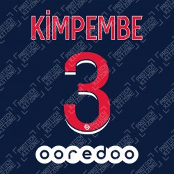 Kimpembe 3 (Official PSG 2020/21 Home Ligue 1 Name and Numbering)
