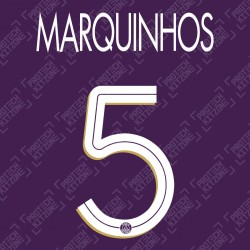 Marquinhos 5 (Official PSG 2020/21 Third UEFA CL Name and Numbering)