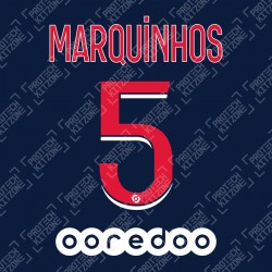 MARQUINHOS 5 (Official PSG 2020/21 Home Ligue 1 Name and Numbering)