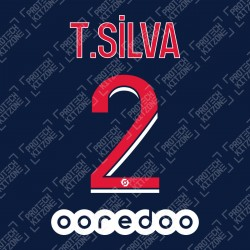 T. Silva 2 (Official PSG 2020/21 Home Ligue 1 Name and Numbering)