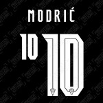 Modrić 10 (Official Croatia 2020 Away Name and Numbering)