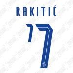 Rakitić 7 (Official Croatia 2020 Home Name and Numbering)