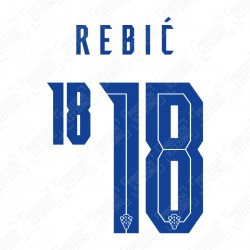 Rebić 18 (Official Croatia 2020 Home Name and Numbering)