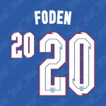 Foden 20 (Official England 2020 Away Name and Numbering)