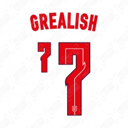 Grealish 7 (Official England 2020 Home Name and Numbering)