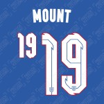Mount 19 (Official England 2020 Away Name and Numbering)