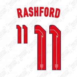 Rashford 11 (Official England 2020 Home Name and Numbering)