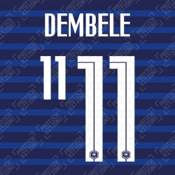 Dembele 11 (Official France 2020 Home Name and Numbering)