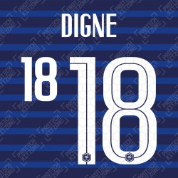 Digne 18 (Official France 2020 Home Name and Numbering)