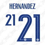 Hernandez 21 (Official France 2020 Away Name and Numbering)