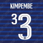 Kimpembe 3 (Official France 2020 Home Name and Numbering)