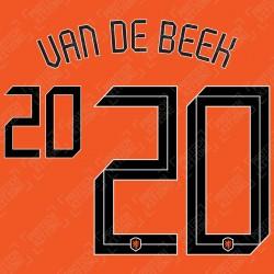 Van De Beek 20 (Official Netherlands 2020 Home Name and Numbering)