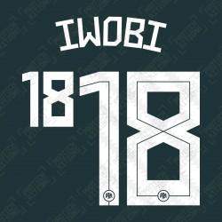 Iwobi 18 (Official Nigeria 2020 Away Name and Numbering)