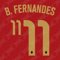 B. Fernandes 11 (Official Portugal 2020 Home Name and Numbering)