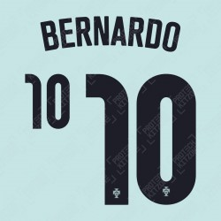 Bernardo 10 (Official Portugal 2020 Away Name and Numbering)