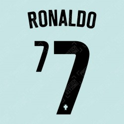 Ronaldo 7 (Official Portugal 2020 Away Name and Numbering)