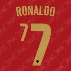 Ronaldo 7 (Official Portugal 2020 Home Name and Numbering)