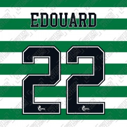 Edouard 22 (Official Celtic FC 2020/21 Home / Away Name and Numbering