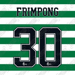 Frimpong 30 (Official Celtic FC 2020/21 Home / Away Name and Numbering