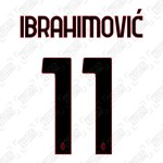 Ibrahimović 11 (Official AC Milan 2020/21 Away Club Name and Numbering)
