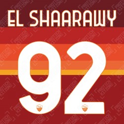 EL Shaarawy 92 (Official AS Roma 2020/21 Home Club Name and Numbering)