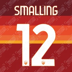 Smalling 12 (Official AS Roma 2020/21 Home Club Name and Numbering)