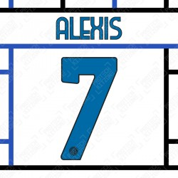 Alexis 7 (Official Inter Milan 2020/21 Away Club Name and Numbering)